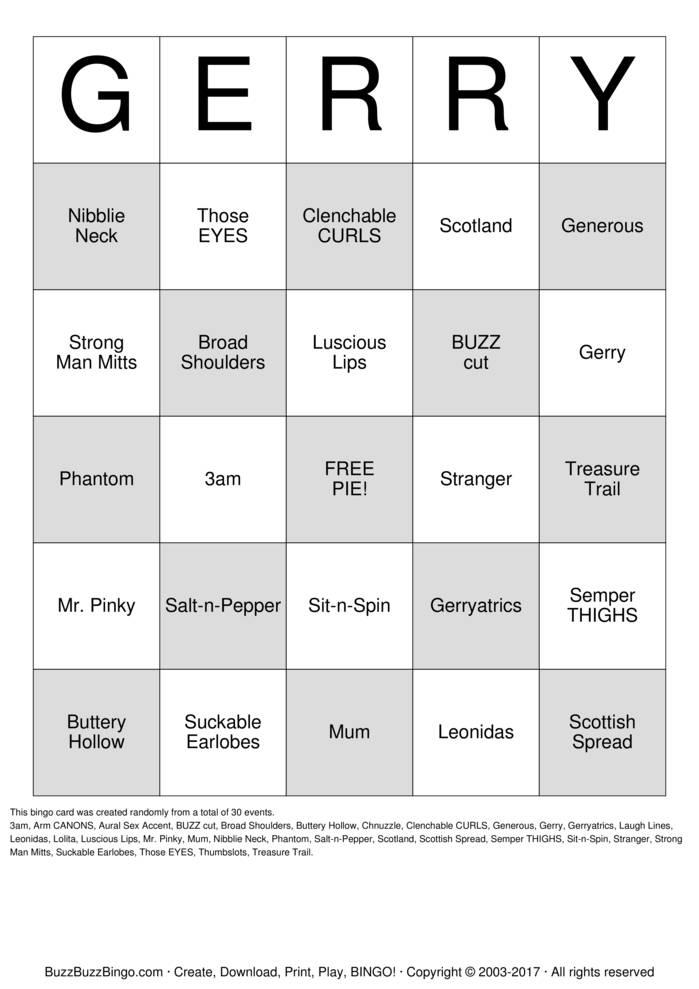 Download GERRY Bingo Cards