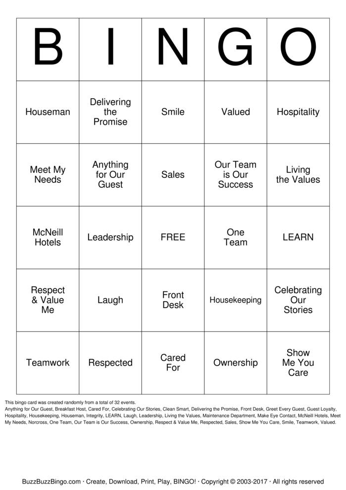 Download Employee Appreciation Bingo Cards