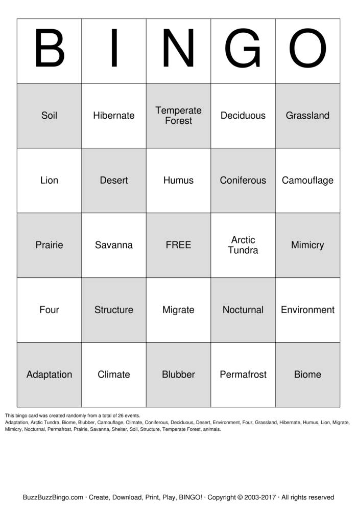 Sea Animals Bingo additionally Animals That Hibernate Printable Pack A additionally Olympic Sports Bingo as well Winter Activities Square X in addition Occupations Bingo. on animals that hibernate bingo cards