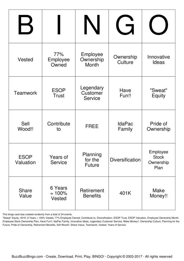 Download ESOP Bingo Cards