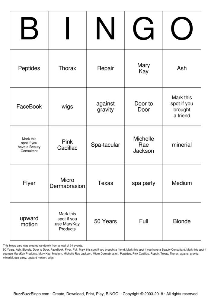 Download Spa-tacular Bingo Cards