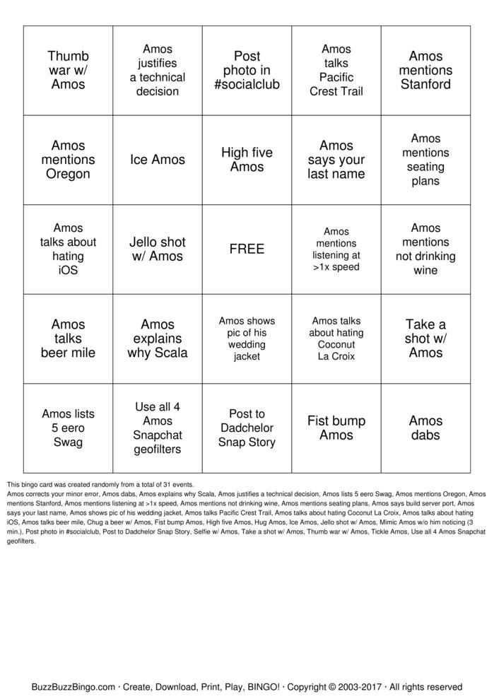 Download Dadchelor Bingo Cards