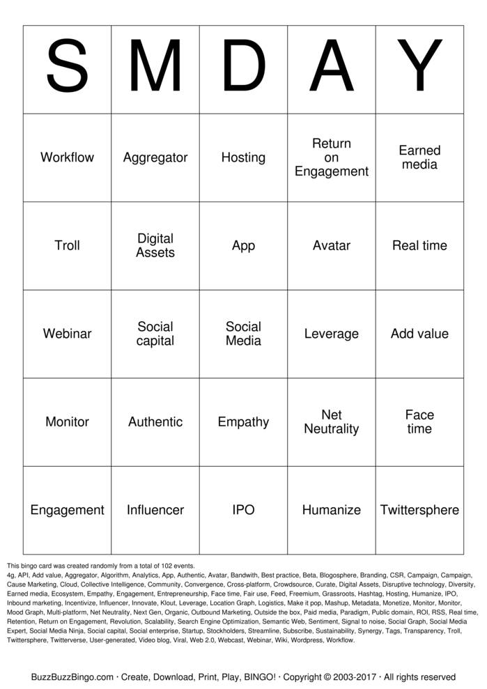 Download Buzzword Bingo Cards