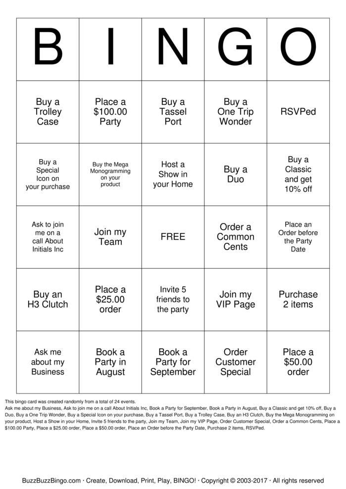 Download Initials Inc Bingo Cards