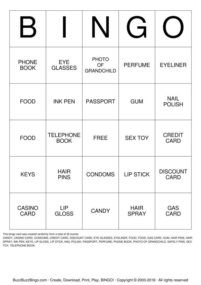 Handbag Bingo Bingo Cards To Download Print And Customize