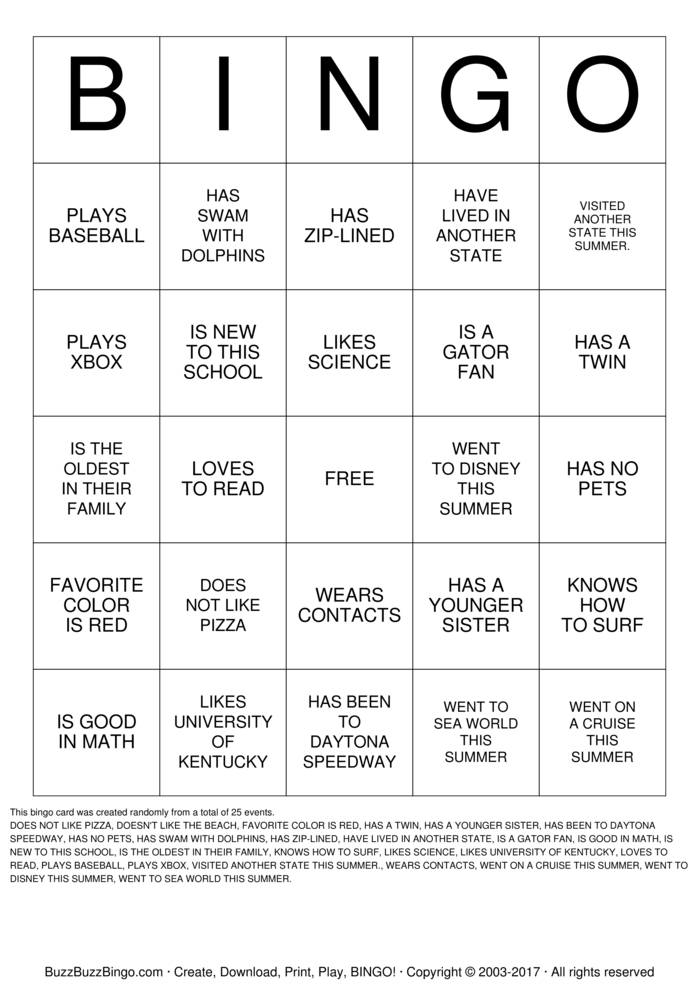 Ice breaker bingo ice breaker for Ice breaker bingo template