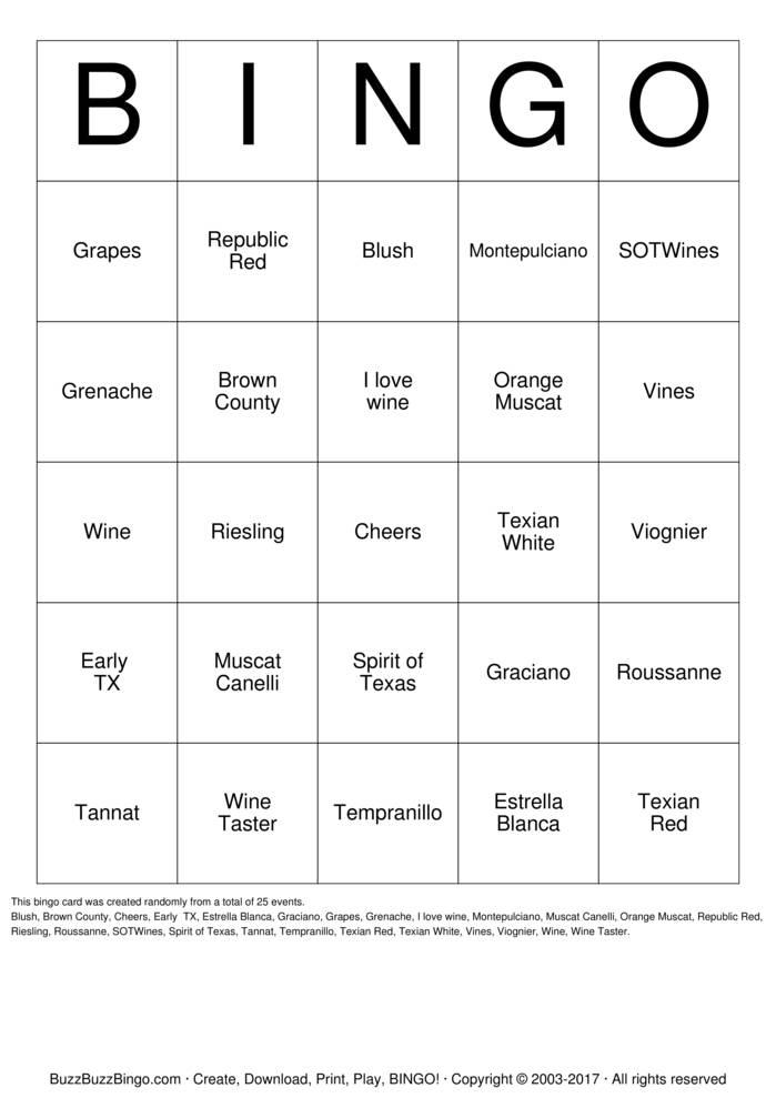 Download Wine-O Bingo Cards