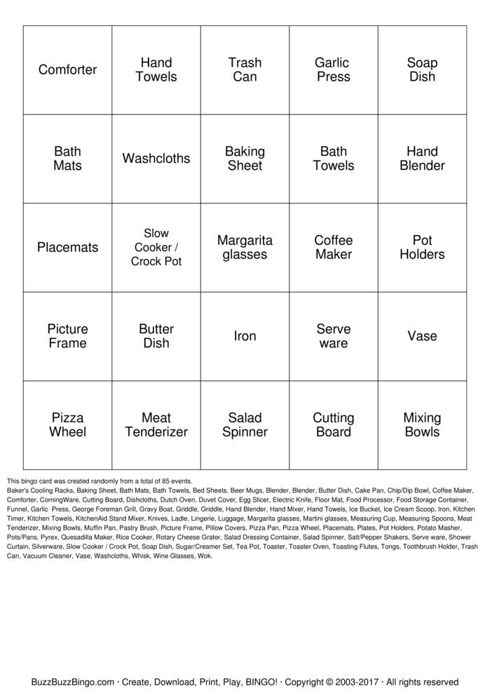 Bingo Cards To Download Print And Customize