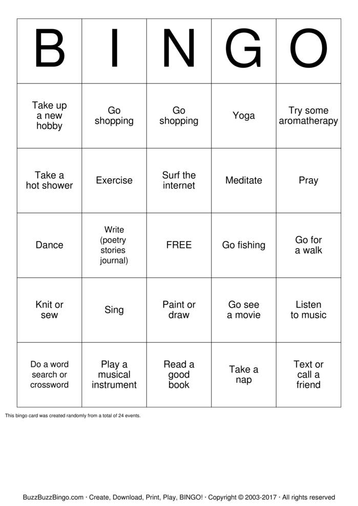 Social Skills Bingo Cards to Download Print and Customize