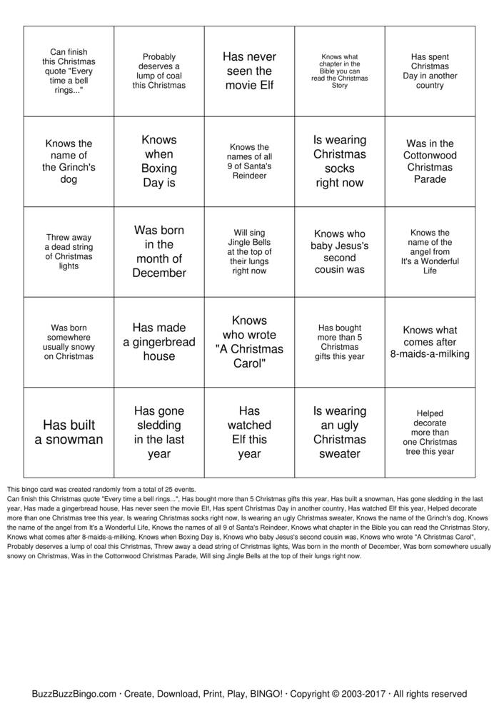 Download Find Someone Who... Bingo Cards