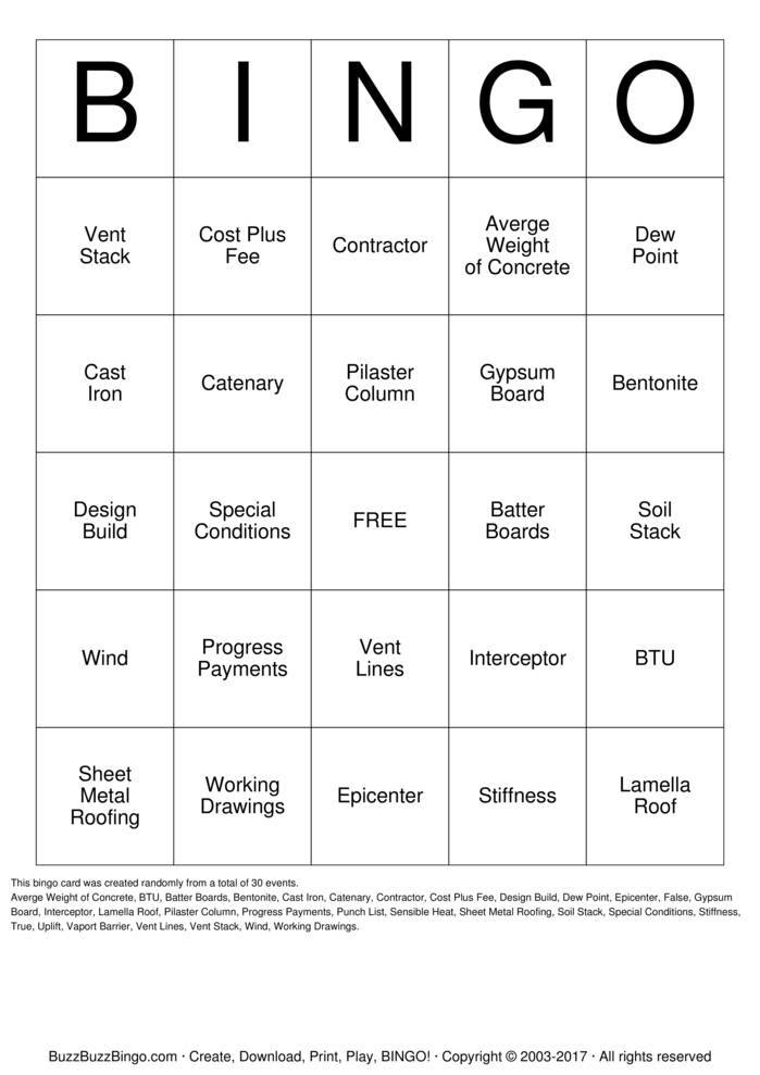 Trivia Night Bingo Cards To Download Print And Customize