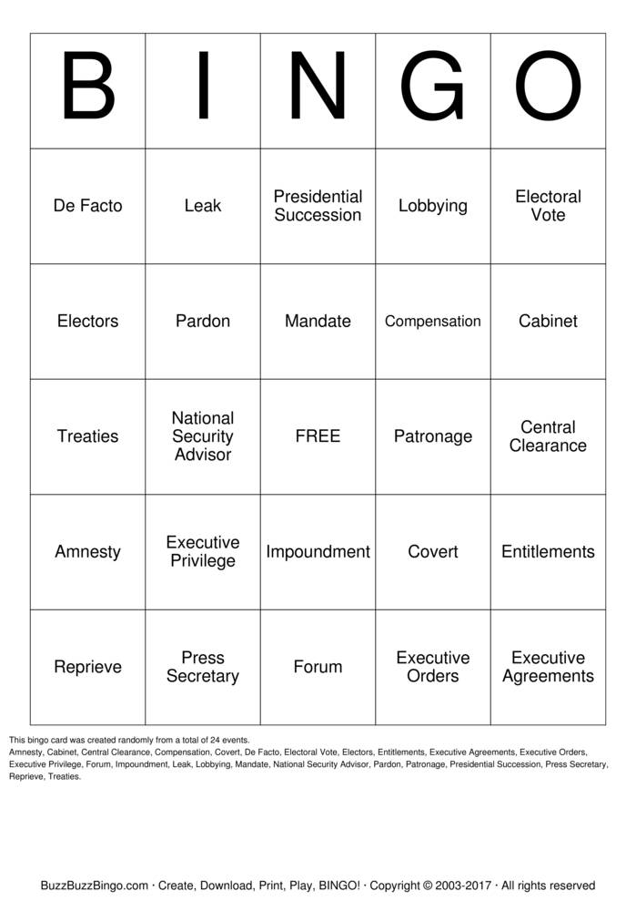Chapter 8 Vocabulary Bingo Cards to Download, Print and Customize!