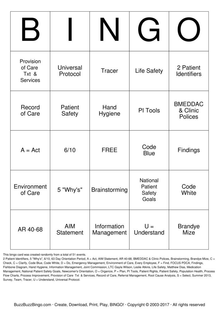 Download Quality Management  Bingo Cards