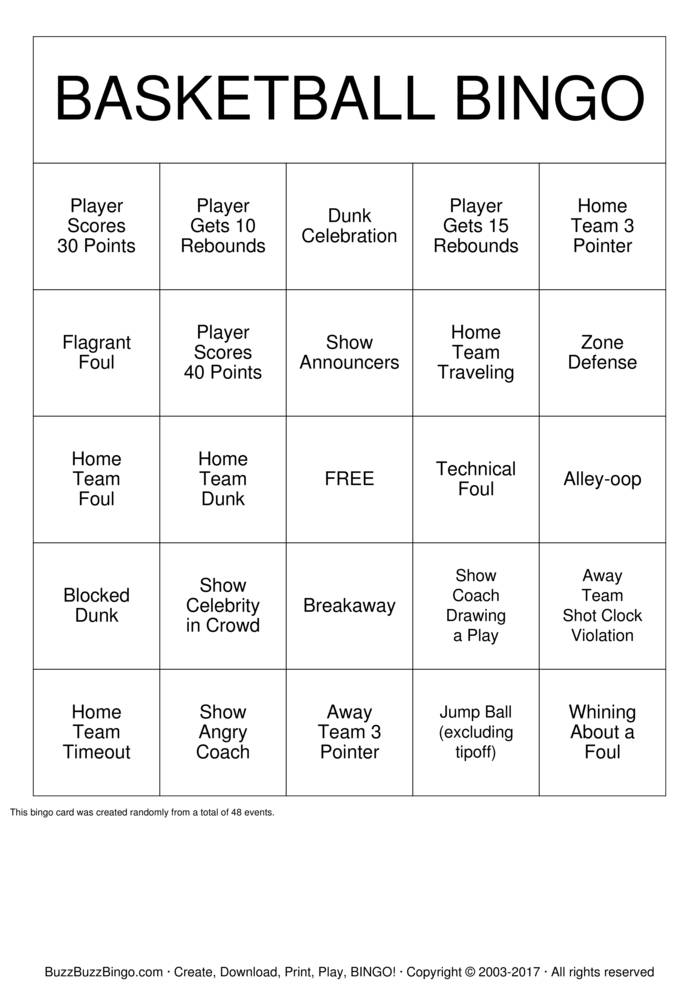 Download Custom Bingo Cards