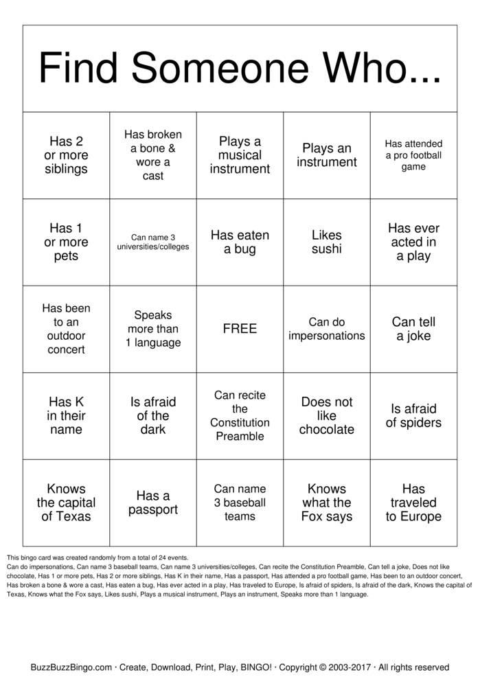 Download Yearbook Bingo Bingo Cards