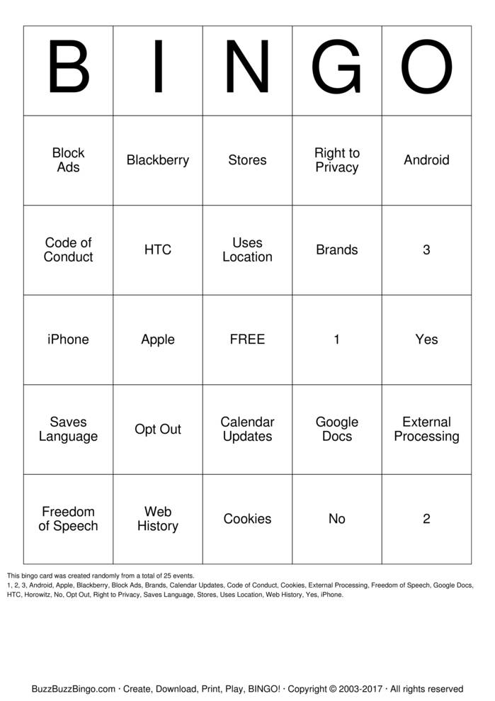 Google Bingo Cards to Download, Print and Customize!