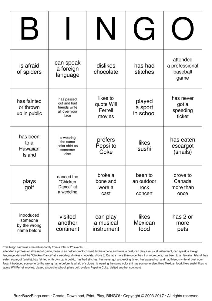 Download Find Someone Who.has a pet.. Bingo Cards