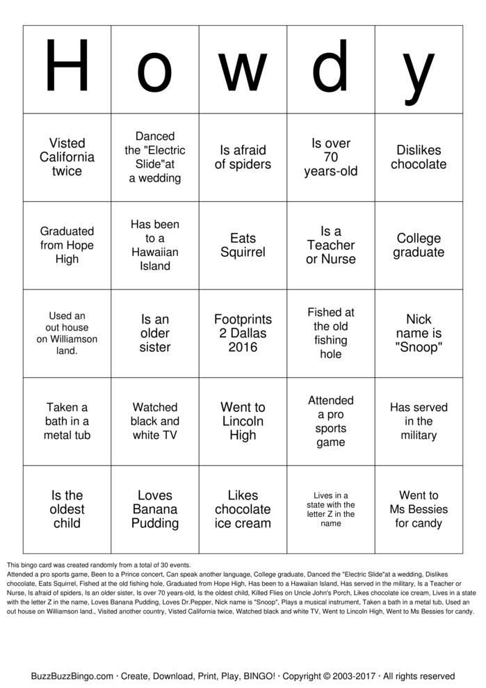 Download Howdy Bingo Cards