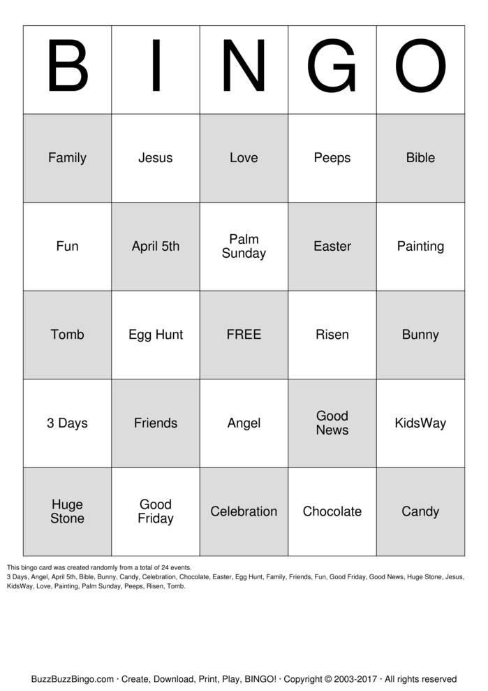 Download Custom Bingo Cards