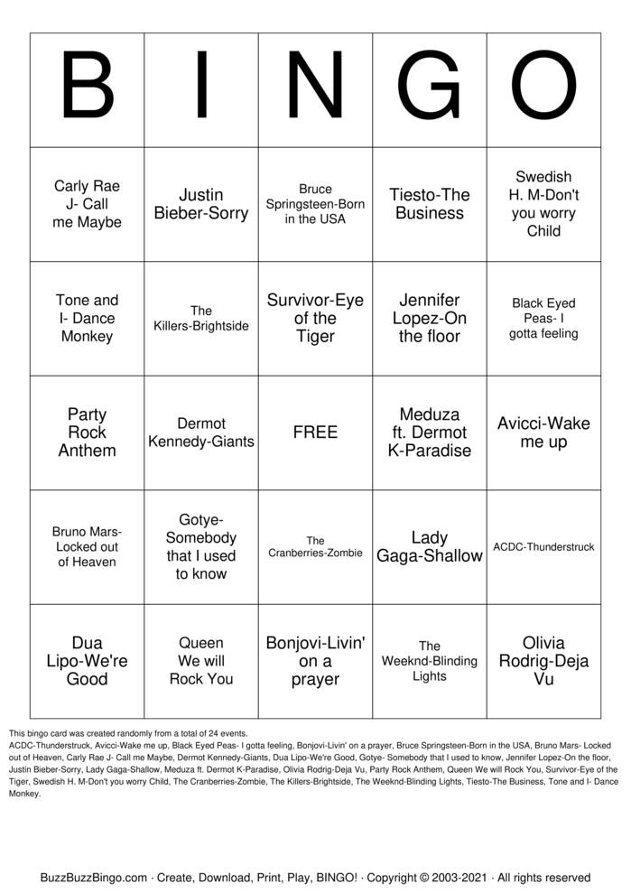 Download Free DISCO Bingo Cards