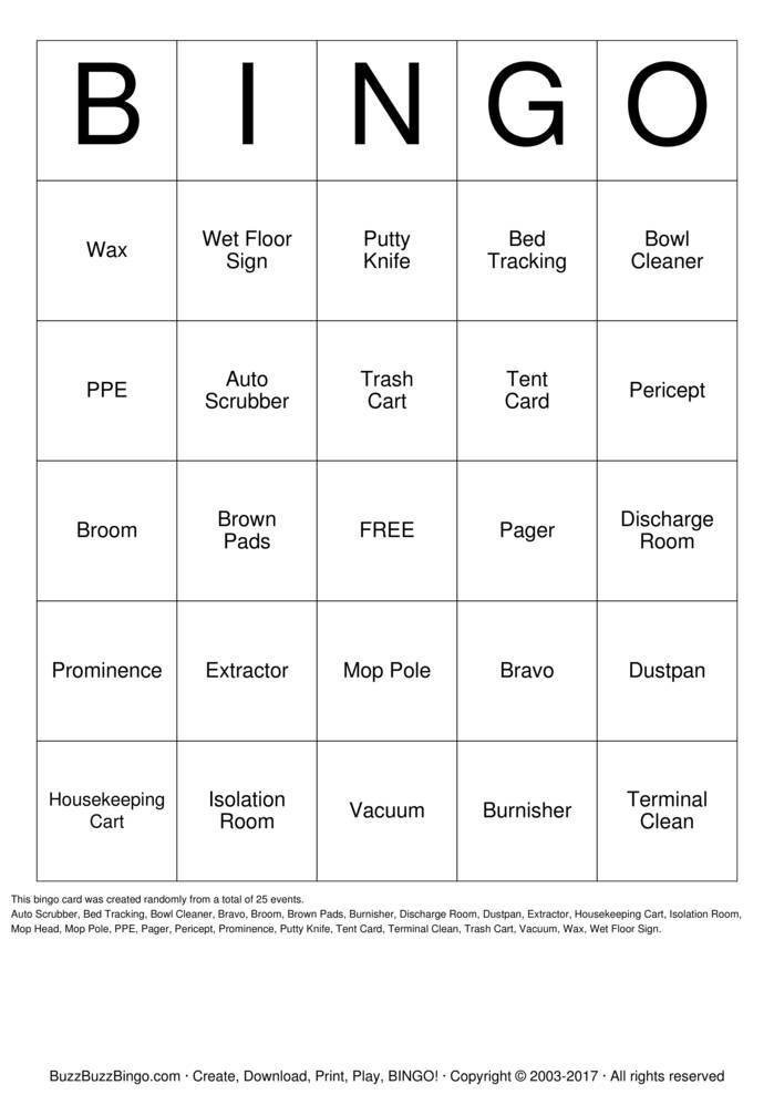 Download Free Custom Bingo Cards