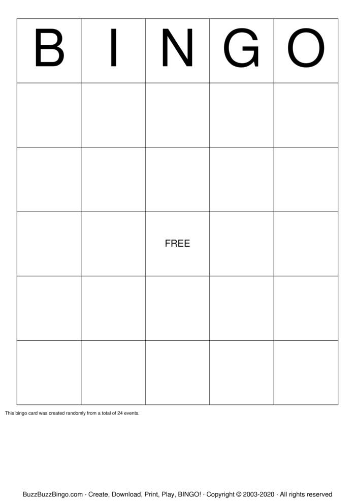 Download Free Strengths Bingo Cards