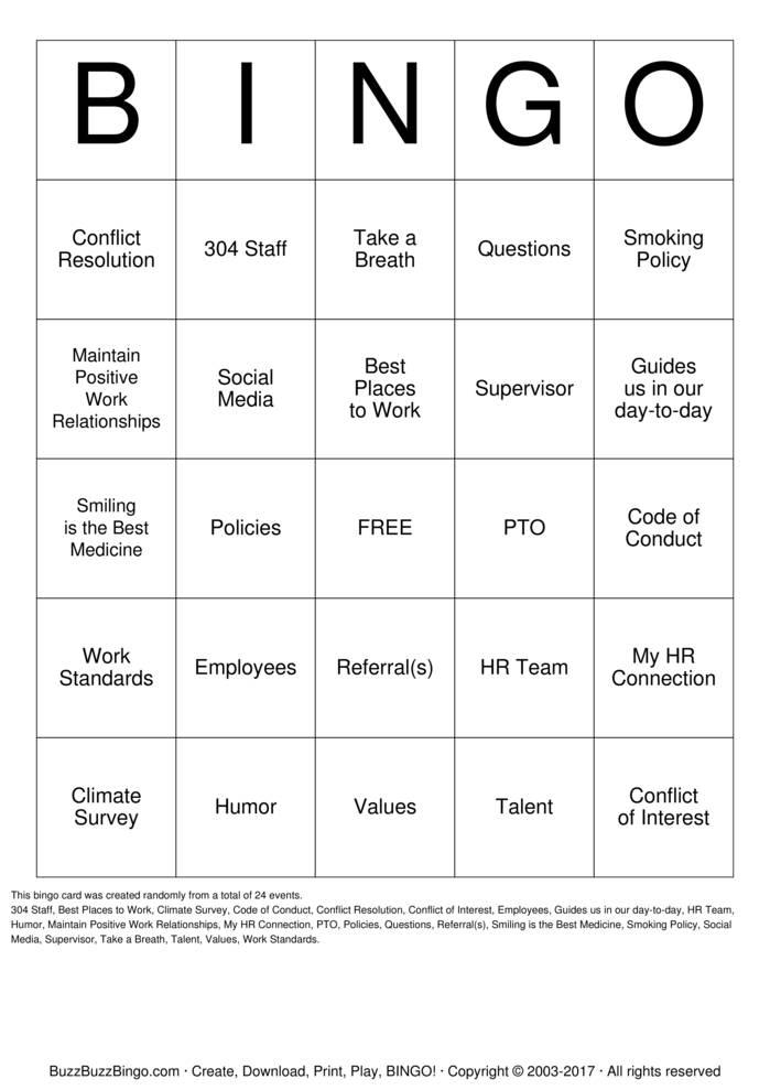 Download Free HR Buzzword Bingo Cards
