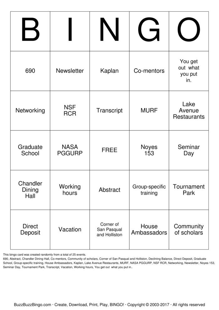 Rcr Bingo