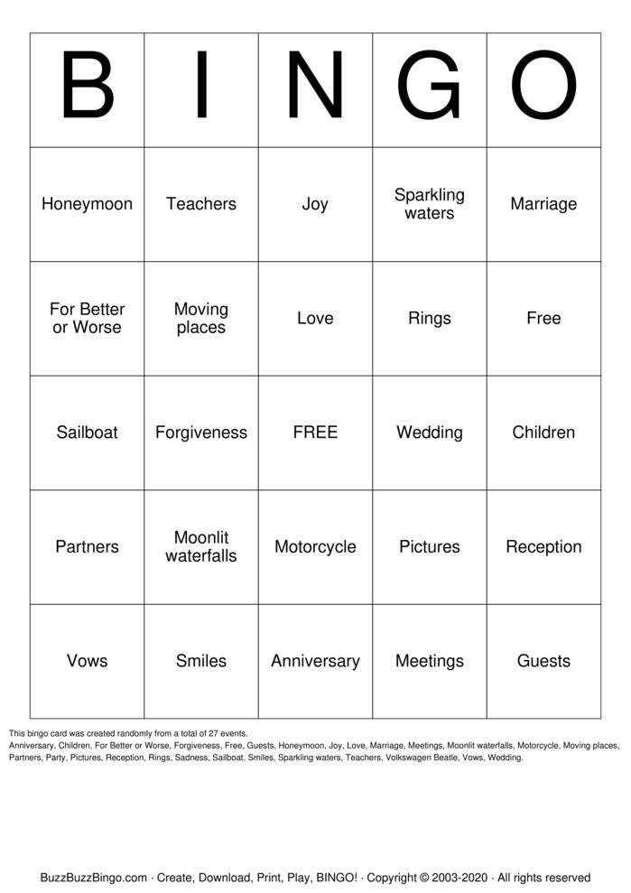 Download Free Anniversary Bingo Bingo Cards