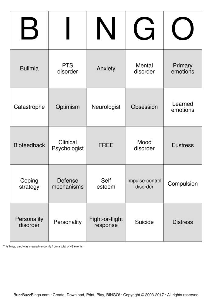 Self Esteem Bingo Cards To Download Print And Customize