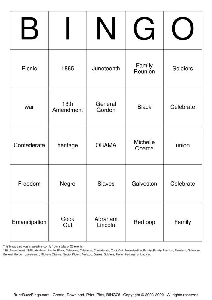 Download Free BLACK Bingo Cards