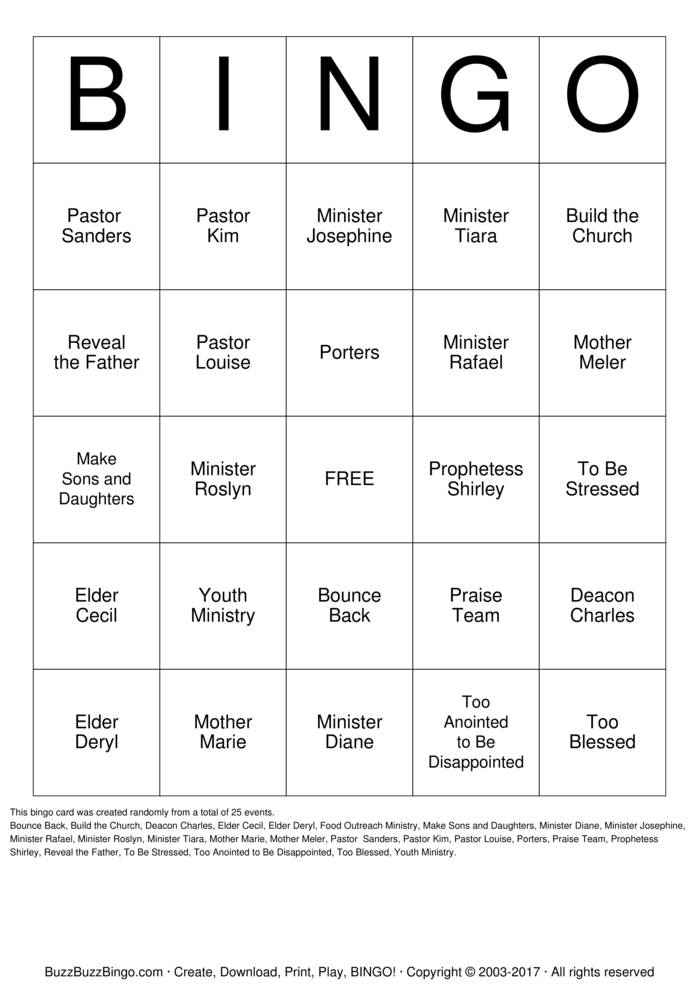 Download Free KFGM FAMILY Bingo Cards