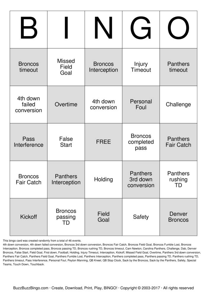Download Free Deland CC Football Bingo Bingo Cards