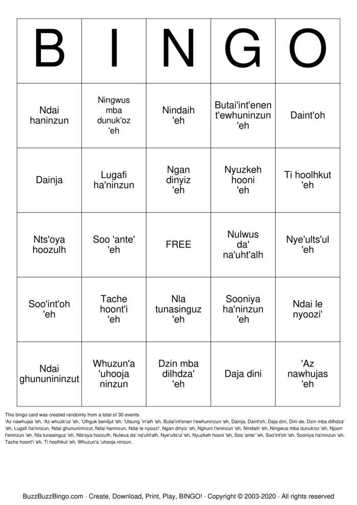 Download Free Questions Bingo Bingo Cards
