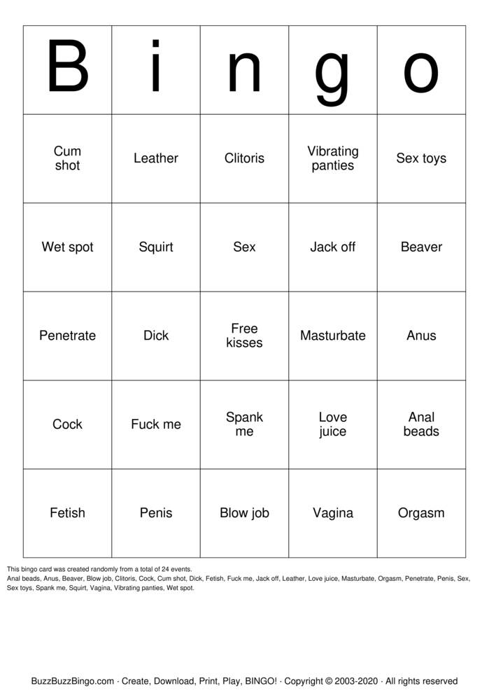 Download Free Sex Toy Bingo Cards