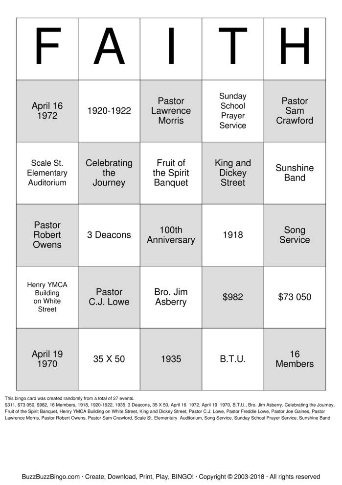 Download 100th Bingo Cards