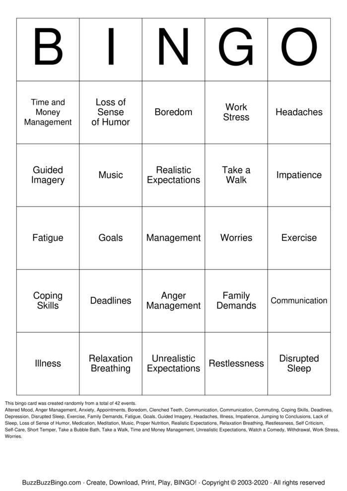 Download Free self criticism bingo Bingo Cards