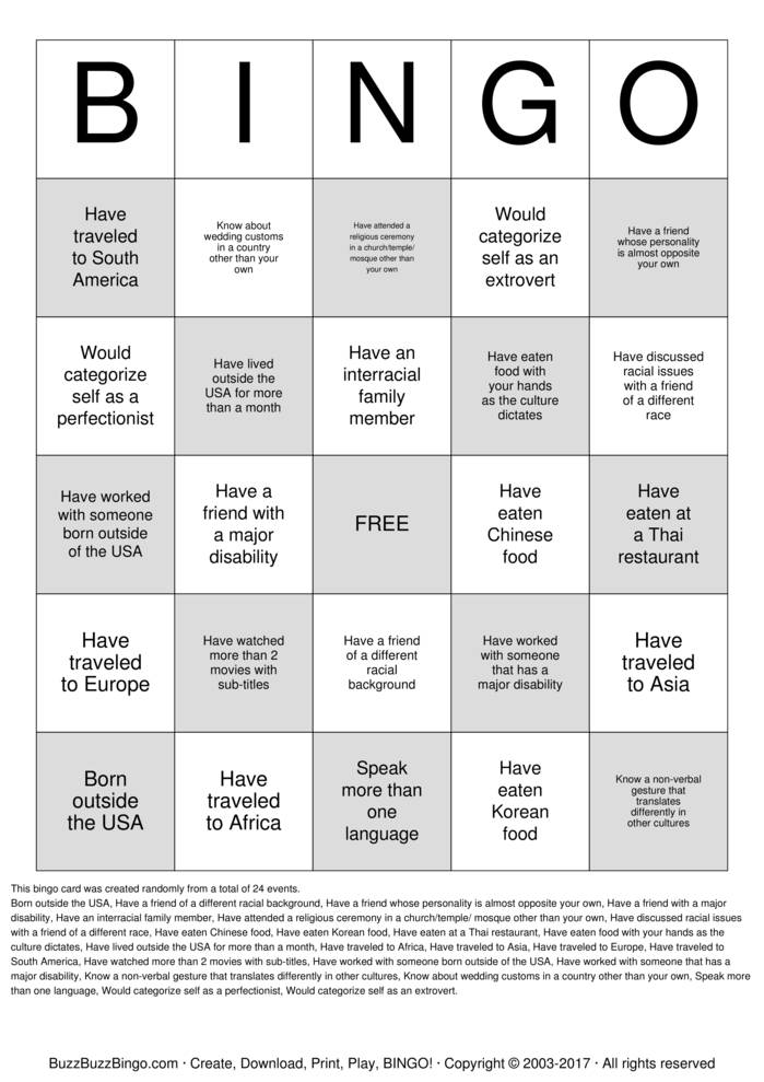diversity bingo cards to download  print and customize