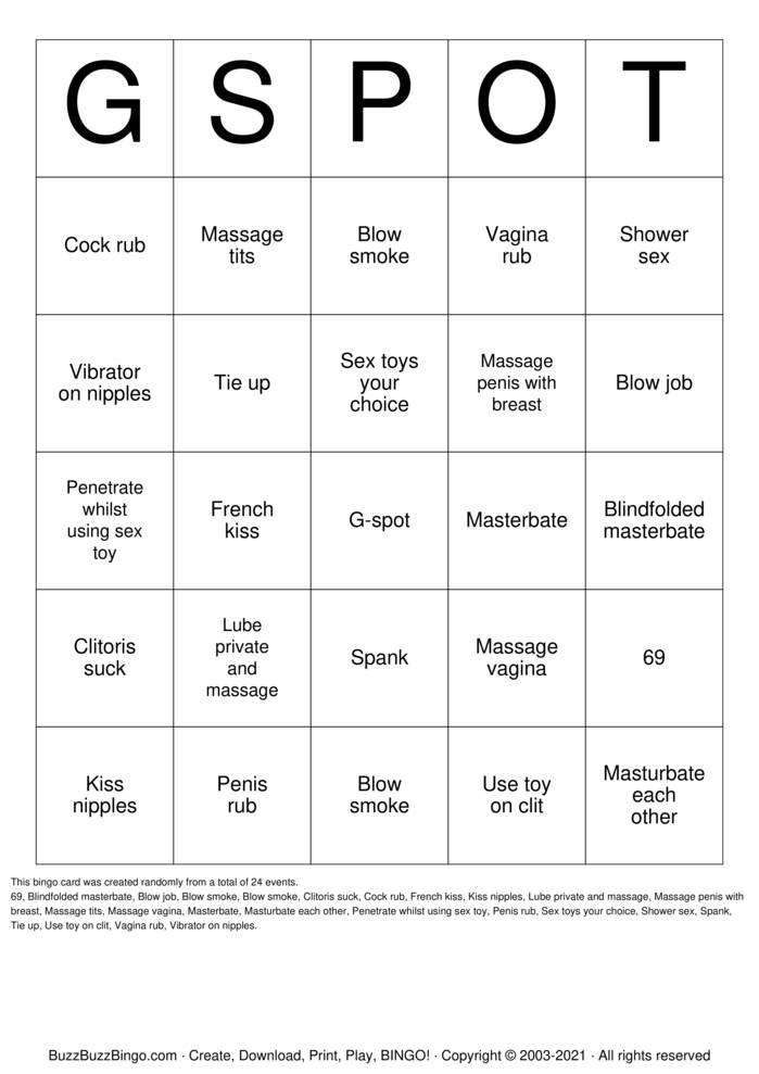 Download Free Sex toy bingo Bingo Cards
