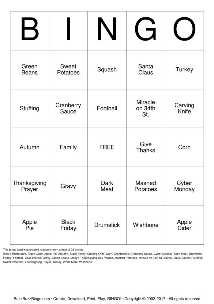 picture relating to Thanksgiving Bingo Printable called Thanksgiving Bingo Playing cards towards Down load, Print and Customise!