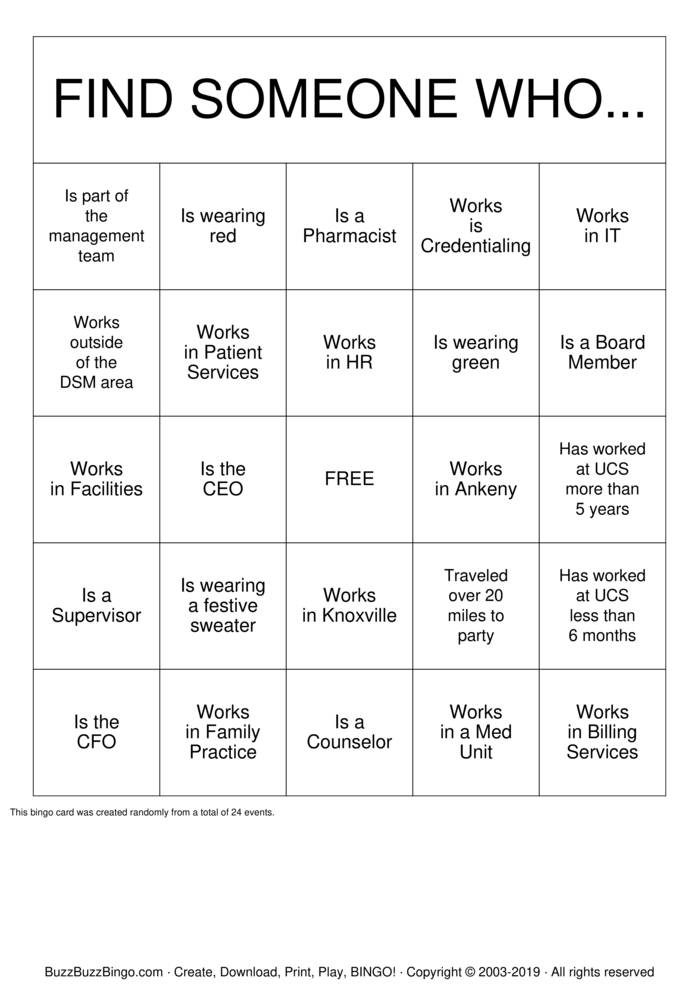 Download Free UCS Bingo Bingo Cards