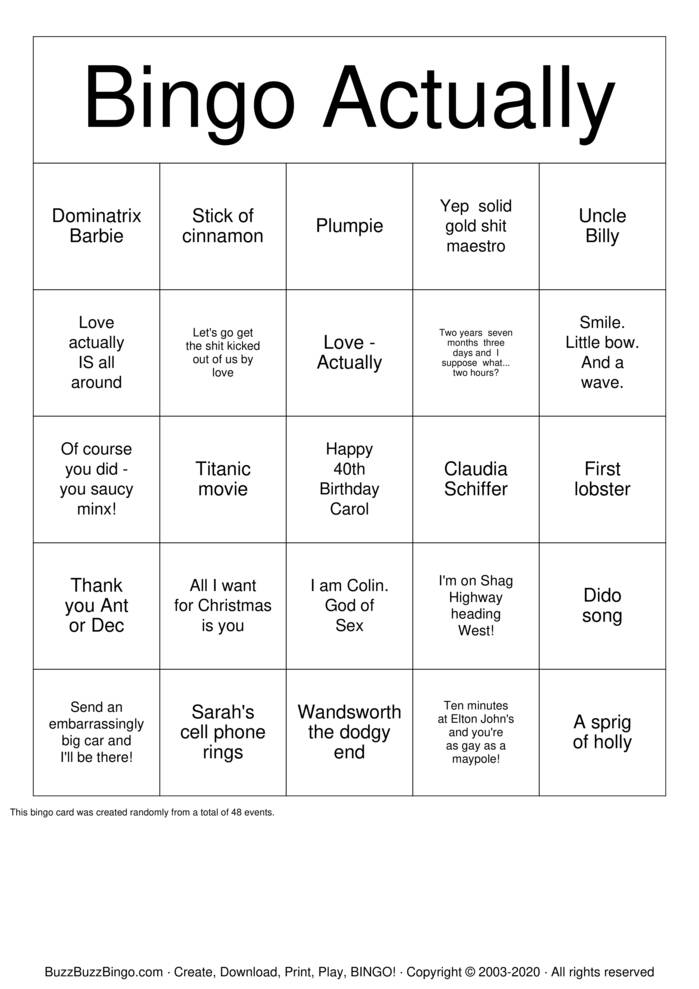 Download Free The Holiday Bingo Cards