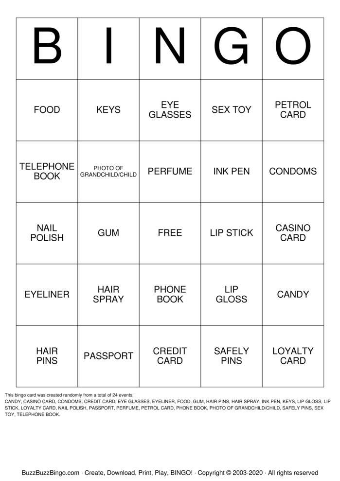 Download Free Handbag Bingo Bingo Cards