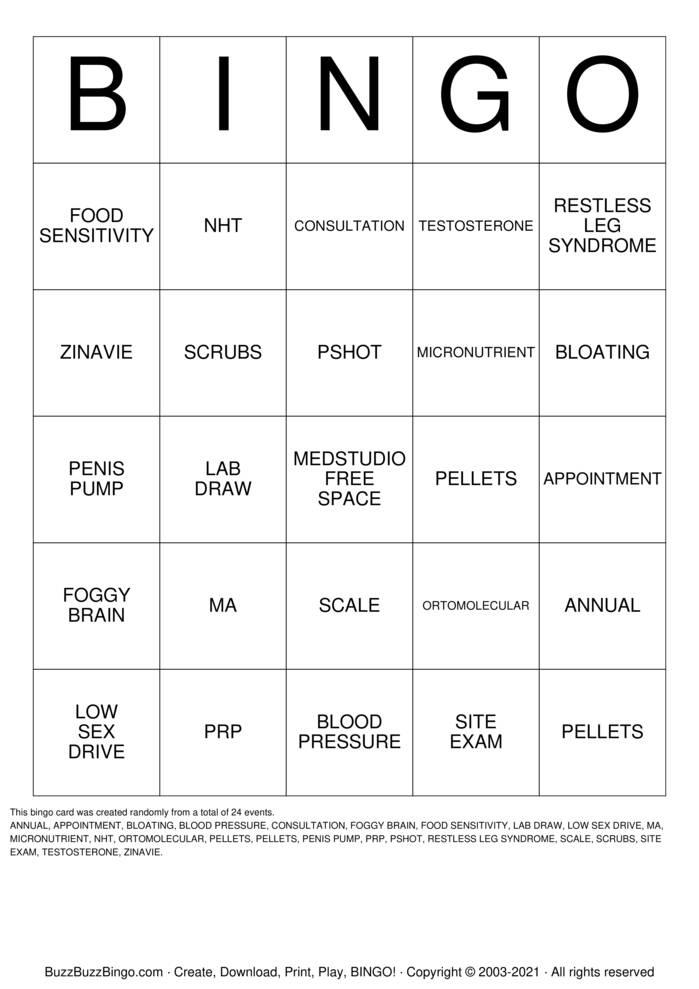 Download Free Medstudio Bingo 3 Bingo Cards