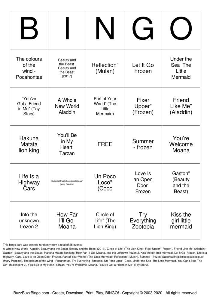 Download Free DISCO Bingo Cards