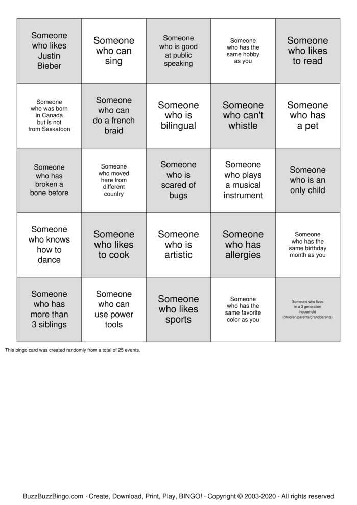 Download Free Friendship Bingo Bingo Cards