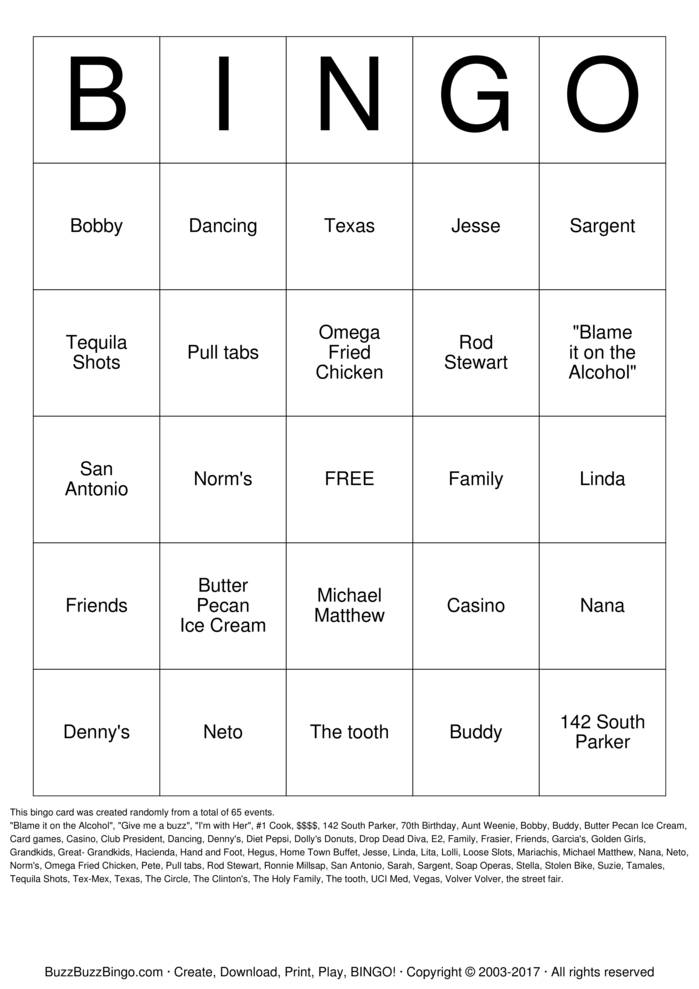 Download Free Tastefully Simple Bingo Bingo Cards