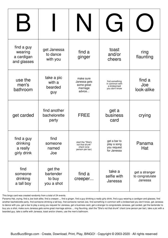 Download Free KATIE Bingo Cards