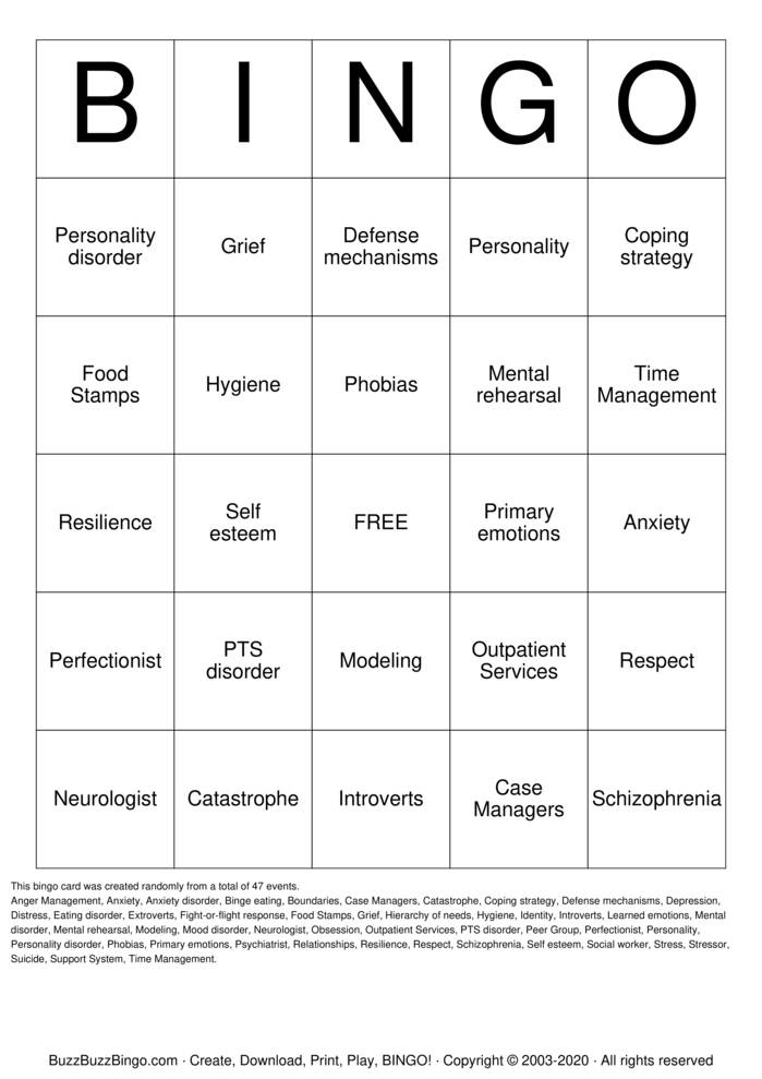 Download Free Saturday's Group Activity Bingo Cards