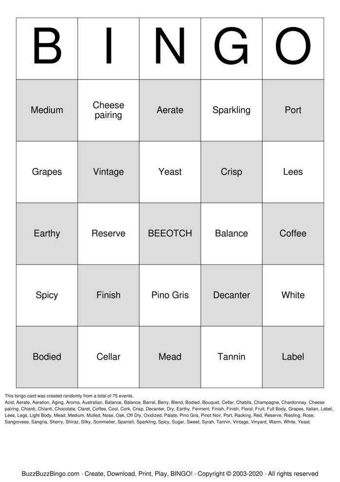 Download Free Bees 2020 Christmas Party Bingo Cards